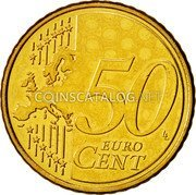 Cyprus 50 Euro Cent 2008 KM# 83 Euro Coinage coin reverse