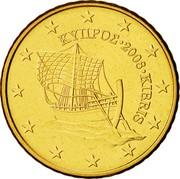 Cyprus 50 Euro Cent Kyrenia ship 2008 KM# 83 ΚΥΠΡΟΣ ∙ 2008 ∙ KIBRIS coin obverse