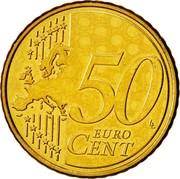 Cyprus 50 Euro Cent Kyrenia ship 2008 KM# 83 50 EURO CENT LL coin reverse