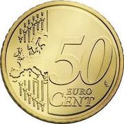 Luxembourg 50 Euro Cent Sint Servaasbrug 2008 (a) Proof KM# 91 50 EURO CENT LL coin reverse