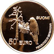Finland 50 Euro Nagano Olympics Nordic Combination 1998 Proof SUOMI 50 EURO PERISOREUS INFAUSTUS coin obverse