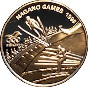 Finland 50 Euro Nagano Olympics Nordic Combination 1998 Proof NAGANO GAMES 1998 FINLAND coin reverse