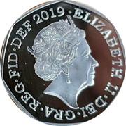 UK 50 Pence 50th anniversary of the moon landing 2019 ELIZABETH II • DEI • GRA • REG • FID • DEF 2019 • coin obverse