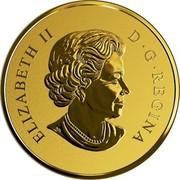 Canada 500 Dollars Gold Maple Leaf 40th Anniversary 2019 ELIZABETH II D • G • REGINA coin obverse
