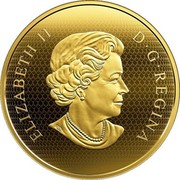 Canada 500 Dollars The Golden Eagle 2019 ELIZABETH II D • G • REGINA coin obverse