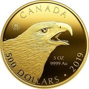 Canada 500 Dollars The Golden Eagle 2019 CANADA 5 OZ 9999 AU 500 DOLLARS • 2019 coin reverse