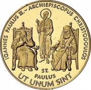 Malta 5000 Liras Pope and Christodoulos 2005 Proof finish X# 318 IOANNES PAULUS II. ~ ARCHIEPISCOPUS CHRISTODOULOS ST. PAULUS UT UNUM SINT coin reverse