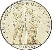 Malta 5•Scvdi (Angelo) X# 44 SVB•HOC•SIGNO•MILITAMVS 5•SCVDI coin reverse