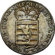 Luxembourg 6 Sols Maria Theresa 1775 (b) KM# 8 MAR•TH•D:G•R•JMP•H•B•R•DUX•LUXEMB•+ coin obverse