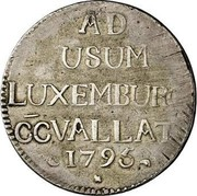 Luxembourg 72 Asses (Sols) Frans II 1795 KM# 20 AD USUM LUXEMBURGI CCVALLATI 1795 coin obverse