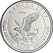 Canada 8 Dollars Bald Eagle 2017  CANADA 2017 9999 CD FINE SILVER 1 1/4 OZ ARGENT PUR coin reverse