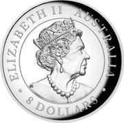 Australia 8 Dollars High Relief Koala 2019 Proof ELIZABETH II AUSTRALIA 8 DOLLARS coin obverse