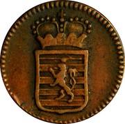 Luxembourg Demi (1/2) Liard Joseph II 1784 (b) KM# 10 coin obverse