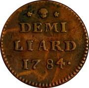 Luxembourg Demi (1/2) Liard Joseph II 1784 (b) KM# 10 DEMI LIARD 1784 coin reverse