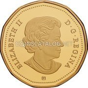 Canada Dollar Connecting a Nation 2017 Proof ELIZABETH II D. G. REGINA P coin obverse