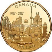 Canada Dollar Connecting a Nation 2017 Proof CANADA 1867-2017 WK DOLLAR coin reverse