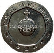 UK Experimental coin Royal Mint Trial 25 Pence 1981 EXPERIMENTAL COIN ROYAL MINT 1981 coin obverse