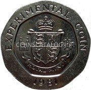 UK Experimental coin Royal Mint Trial 25 Pence 1981 ROYAL MINT TRIAL coin reverse