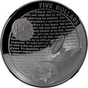 Australia Five Dollars Apollo 11 Moon Landing Domed 2019 Proof FIVE DOLLARS ELIZABETH II AUSTRALIA 2019 coin obverse