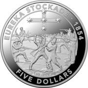 Australia Five Dollars Eureka stockade 2019 1 OZ .999 AG; EUREKA STOCKADE - 1854 FIVE DOLLARS coin reverse