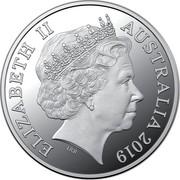 Australia FIVE Dollars Rum Rebellion 2019 ELIZABETH II AUSTRALIA 2019 IRB coin obverse