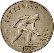 Luxembourg Franc Charlotte 1964 KM# 46.2 LETZEBURG A.B. 1964 coin obverse