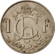 Luxembourg Franc Charlotte 1964 KM# 46.2 1 CH F. A.B. coin reverse