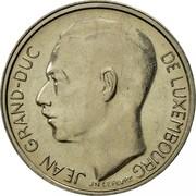 Luxembourg Franc Jean 1981 KM# 55 JEAN GRAND-DUC DE LUXEMBOURG J N LEVEVRE coin obverse