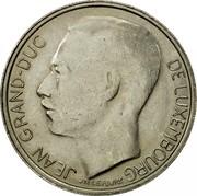 Luxembourg Franc Jean 1987 KM# 59 JEAN GRAND-DUC DE LUXEMBOURG J.N. LEFEVRE coin obverse