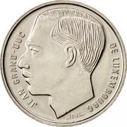 Luxembourg Franc Jean 1988 KM# 63 JEAN GRAND-DUC DE LUXEMBOURG JNL coin obverse
