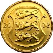 Estonia Kroon 90th anniversary of the Republic of Estonia 2008 KM# 44 20 08 coin obverse