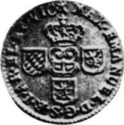 Luxembourg Liard 1712 (n) KM# A1 Standard Coinage MAX. EMANUEL D. G. S. R. I. RA. EL. ET VIC coin obverse