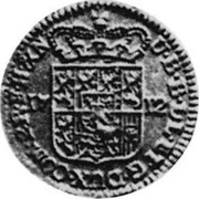 Luxembourg Liard 1712 (n) KM# A1 Standard Coinage U. B. B. L. L. ET G. DUX. COM. P. R. F. H. N. coin reverse