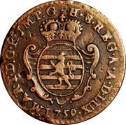 Luxembourg Liard Maria Theresa 1759 (b) KM# 3 MAR•T•D:G•R•JMP•G•H•B•REG•A•A•D•LUX• 1759 coin obverse