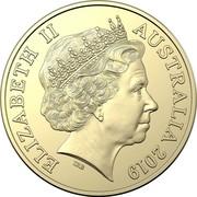 Australia One Dollar Mutiny on the Bounty 2019 UNC in Coincard ELIZABETH II AUSTRALIA 2019 IRB coin obverse