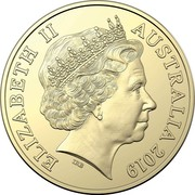 Australia One Dollar The Rum Rebellion 2019 ELIZABETH II AUSTRALIA 2019 IRB 1 DOLLAR coin obverse