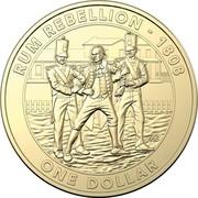 Australia One Dollar The Rum Rebellion 2019 RUM REBELLION - 1808 ONE DOLLAR coin reverse