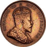 Cyprus Piastre Edward VII 1908 KM# 12 EDWARDVS VII REX IMPERATOR coin obverse
