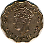 Cyprus Piastre George VI 1949 KM# 30 GEORGIVS SEXTVS DEI GRATIA REX coin obverse