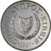 Cyprus Pound 1997 KM# 72 Reform Coinage coin obverse