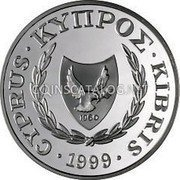 Cyprus Pound 1999 KM# 90 Reform Coinage coin obverse