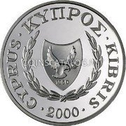Cyprus Pound 2000 KM# 92 Reform Coinage coin obverse