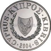 Cyprus Pound 2004 KM# 75 Reform Coinage coin obverse