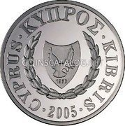 Cyprus Pound 2005 Proof KM# 76 Reform Coinage coin obverse