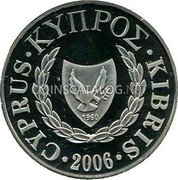 Cyprus Pound 2006 Proof KM# 77 Reform Coinage coin obverse