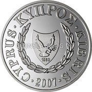 Cyprus Pound 2007 Prooflike KM# 86 Reform Coinage coin obverse