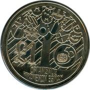 Cyprus Pound 50th Anniversary of the United Nations 1995 KM# 69 £1 ΟΡΓΑΝΙΣΜΟΣ ΗΝΩΜΕΝΩΝ ΕΘΝΩΝ coin reverse