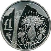 Cyprus Pound Centaurea Akamantis 2006 Proof KM# 77 £1 coin reverse