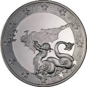Cyprus Pound Cyprus's Accession to the EU 2004 KM# 75 £1 coin reverse