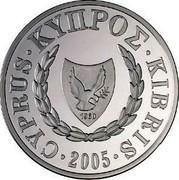 Cyprus Pound Mediterranean Monk Seal 2005 Proof KM# 76 CYPRUS ∙ KYΠPΟΣ ∙ KIBRIS ∙ 2005 ∙ coin obverse